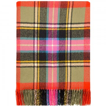 100% Lambswool Blanket in Bruce of Kinnaird by Lochcarron of Scotland