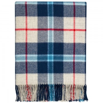 100% Lambswool Blanket in Douglas Navy by Lochcarron of Scotland