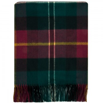 100% Lambswool Blanket in Tealing by Lochcarron of Scotland