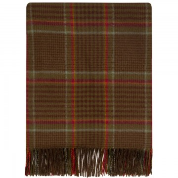 100% Lambswool Blanket in Tarbert by Lochcarron of Scotland