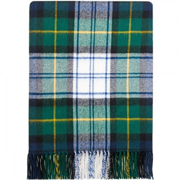 100% Lambswool Blanket in Dress Gordon by Lochcarron of Scotland