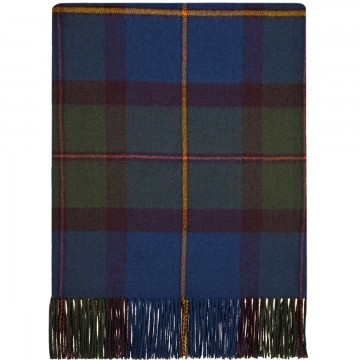100% Lambswool Blanket in Macleod of Harris Antique by Lochcarron of Scotland