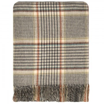 100% Lambswool Blanket in Clyde by Lochcarron of Scotland