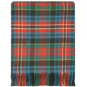 100% Lambswool Blanket in Ancient Kidd by Lochcarron of Scotland
