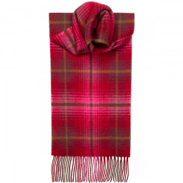 Lauriston Check Tartan 100% Lambswool Scarf by Lochcarron