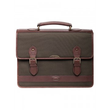 Belvedere Briefcase Bag in Olive by Dubarry