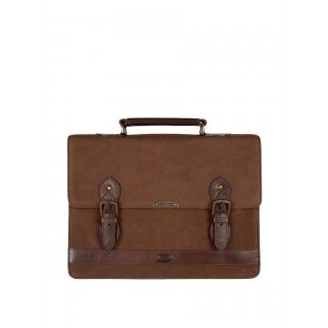 Belvedere Briefcase Bag in Walnut by Dubarry