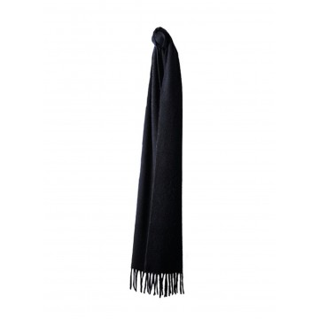 Sinclair Duncan Solid Colour Woven Cashmere Scarf - Black
