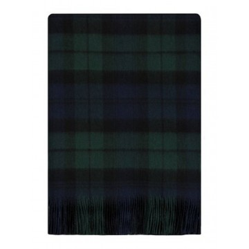 Bronte by Moon 100% Lambswool Tartan Throw - Black Watch