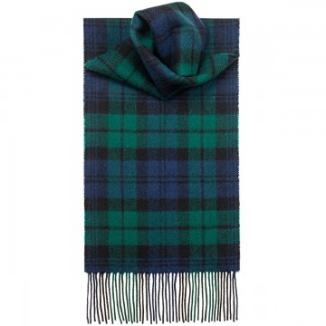 Black Watch Modern Tartan 100% Lambswool Scarf by Lochcarron