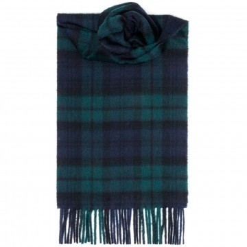 Black Watch Modern 100% Cashmere Scarf by Lochcarron of Scotland