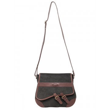 Boyne Bag in Black/Brown by Dubarry