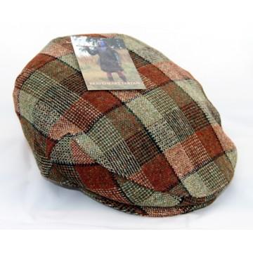 Islay Woollen Mill Braveheart Tartan Flat Cap - XL