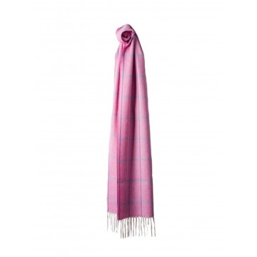 Sinclair Duncan Herringbone Woven Cashmere Scarf - Bright Pink
