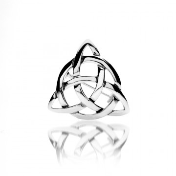 Celtic Knot Sterling Silver Triangle Brooch