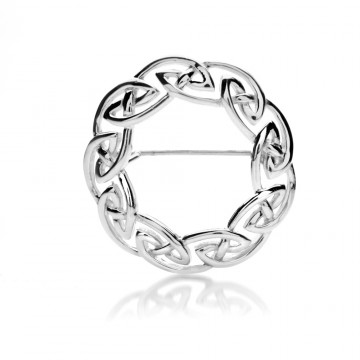 Celtic Knotwork Sterling Silver Brooch