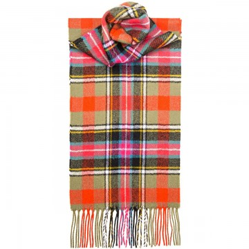 Bruce of Kinnaird Ancient Tartan 100% Lambswool Scarf by Lochcarron