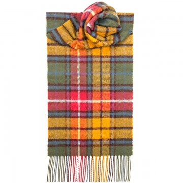 Buchanan Antique Tartan 100% Lambswool Scarf by Lochcarron