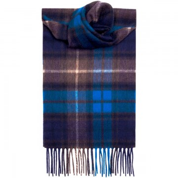 Buchanan Blue Tartan 100% Cashmere Scarf by Lochcarron of Scotland