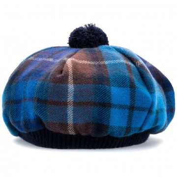 Buchanan Blue Tartan Brushed Wool Tam