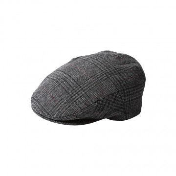 Failsworth Cambridge Cap - Made with Moon Wool - Grey Houndstooth Check