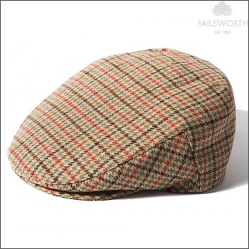 Failsworth Cambridge Cap - Made with Moon Wool - Multicoloured Houndstooth Check