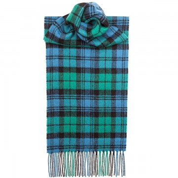 Campbell Ancient  Tartan 100% Lambswool Scarf by Lochcarron