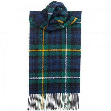 Campbell of Argyll Modern Tartan 100% Lambswool Scarf by Lochcarron