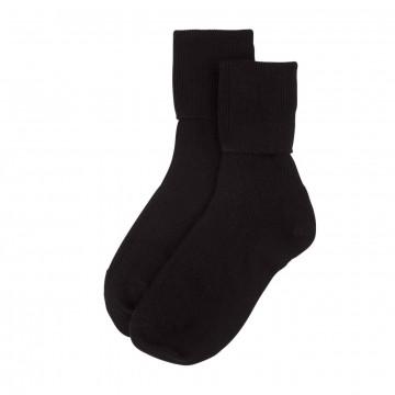 Cashmere Ladies Socks - Black