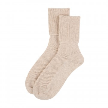 Cashmere Ladies Socks - Dark Medium Dyed