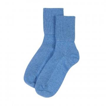 Cashmere Ladies Socks - Delph Blue
