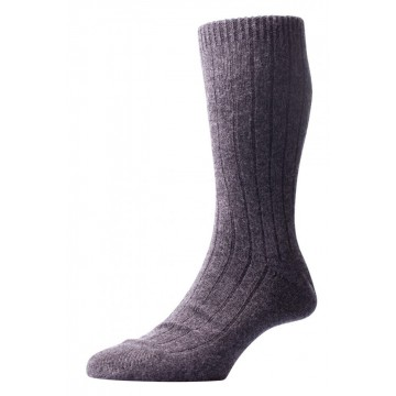 Pantherella Men's Waddington Cashmere Socks - Charcoal  - Medium