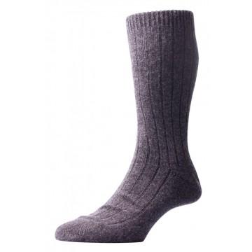 Pantherella Men's Waddington Cashmere Socks - Charcoal - Large