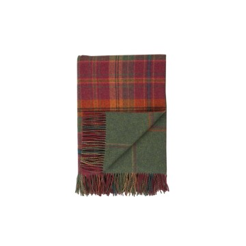 Johnston's of Elgin Lambswool Check Throw - Dunoon
