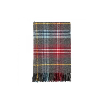 Johnston's of Elgin Lambswool Tartan Throw - Insch