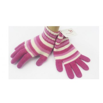 Pink & White Cashmere Children's Gloves from The Scarf Company