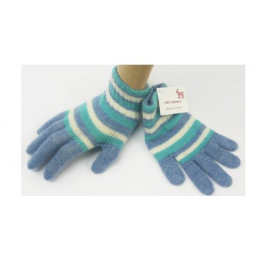 Blue Stripes Cashmere Children's Gloves from The Scarf Company