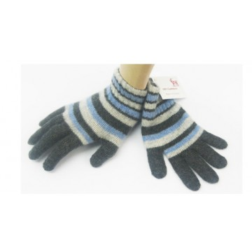 Grey& Blue Cashmere Children's Gloves from The Scarf Company