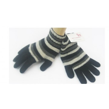 Black & Grey Cashmere Children's Gloves from The Scarf Company