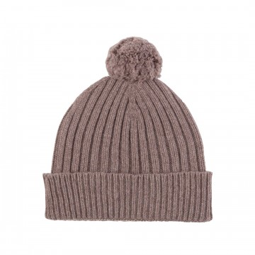 Cashmere Chunky Rib Hat - Driftwood