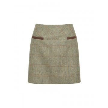 Clover Tweed Mini Skirt in Acorn by Dubarry