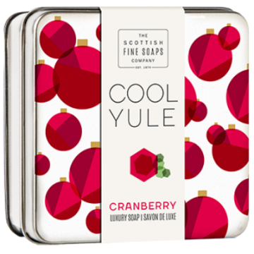 Cranberry CoolYuleSoapTin