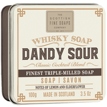 Dandy Sour Whisky Soap in a Tin