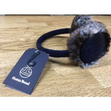 "Failsworth ""Harris Tweed"" Dark Blue Earmuffs"