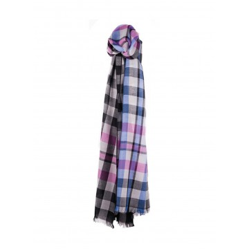 Sinclair Duncan Thistledown Cashmere Scarf - Dark Grey Plaid