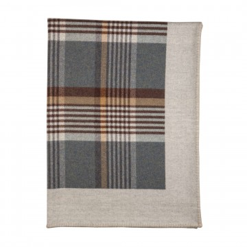 Lambswool Glen Blanket - Denim