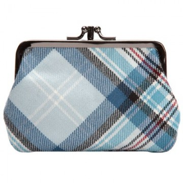 Lochcarron Princess Diana Blue Memorial Tartan Medium Coin Purse - Made in Scotland