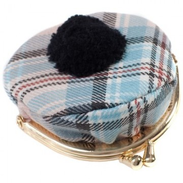 Lochcarron Princess Diana Rose Memorial Tartan Tammy Hat Coin Purse - Made in Scotland