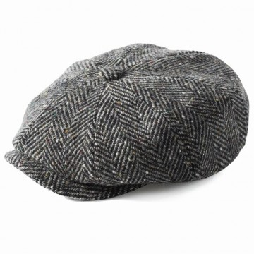 Failsworth Donegal Tweed Mayo Hat - Grey Herringbone