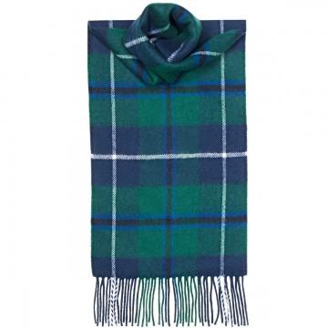 Douglas Modern Tartan 100% Lambswool Scarf by Lochcarron